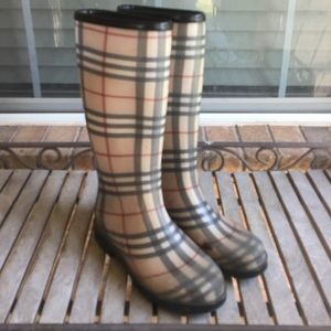 Burberry House-check Rubber Rain Boots